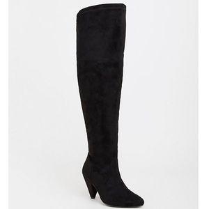Torrid Black Cone Heel Over the Knee Boots